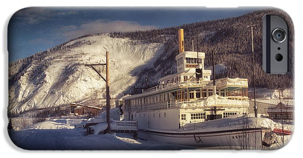 Historic Site iPhone Cases - S.S. Keno Sternwheel Paddle Steamer iPhone Case by Priska Wettstein