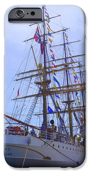 Tall Ship iPhone Cases - SS SORLANDET Tall Ships iPhone Case by Lingfai Leung