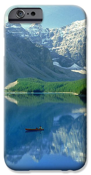 S.short Canoeist, Moraine Lake, Ab, Fl iPhone Case by Steve Short
