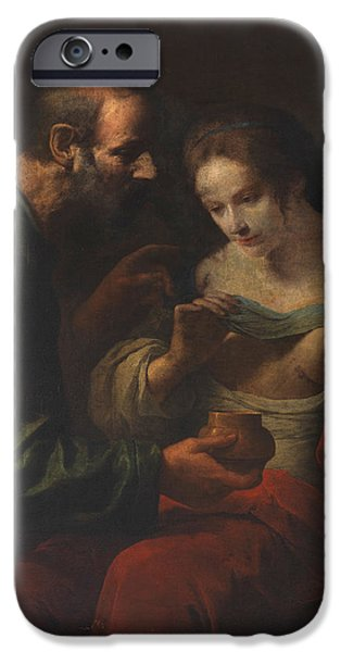 Prison Paintings iPhone Cases - St Agatha cured by St Peter in Prison iPhone Case by Giovanni Martinelli
