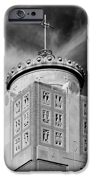 Quad iPhone Cases - St. Ambrose University Christ the King Chapel iPhone Case by University Icons