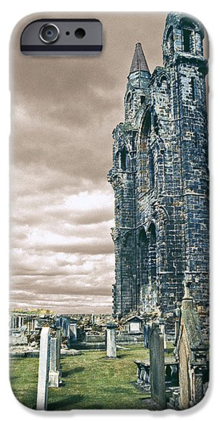Cemetary iPhone Cases - St Andrews Cathedral Cemetery iPhone Case by Stuart Litoff