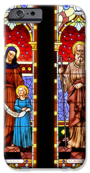 Ann iPhone Cases - St Ann and St Joachim iPhone Case by Christine Till