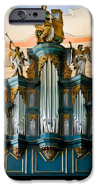 Limburg iPhone Cases - St Anna organ in Limburg iPhone Case by Jenny Setchell