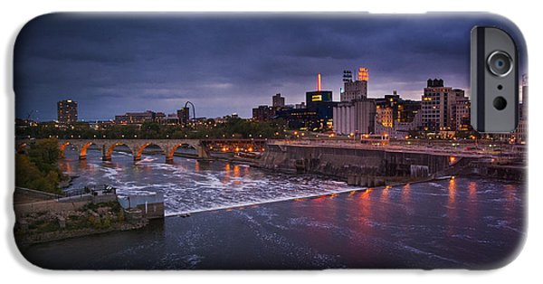 Minnesota Photographs iPhone Cases - St. Anthony Falls iPhone Case by Bryan Scott