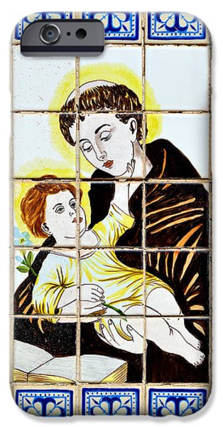 Portuguese iPhone Cases - St Anthony of Padua iPhone Case by Christine Till