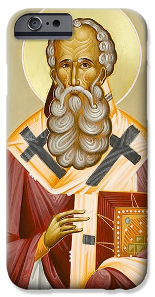 St Athanasios The Great iPhone Cases - St Athanasios the Great iPhone Case by Julia Bridget Hayes