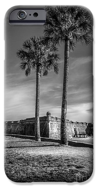 Park Scene iPhone Cases - St. Augustine Fort iPhone Case by Marvin Spates