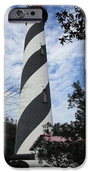 Saint Hope iPhone Cases - St. Augustine Light Lighthouse iPhone Case by Nomad Art And  Design
