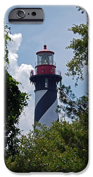 Fl iPhone Cases - St. Augustine Light iPhone Case by Skip Willits