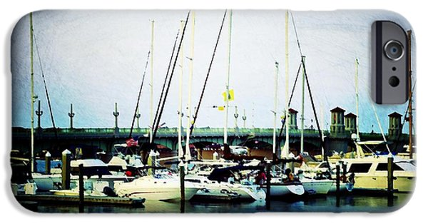 Sailboats iPhone Cases - St. Augustine Sailboats iPhone Case by Laurie Perry