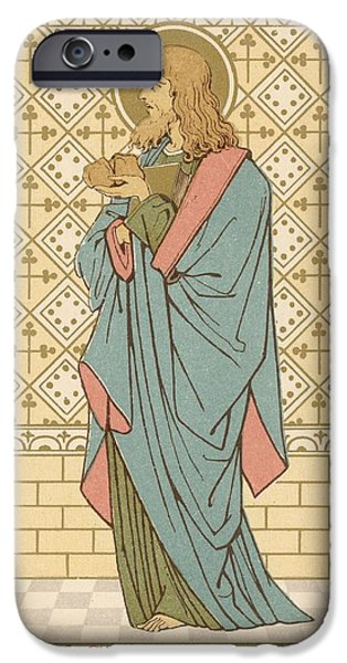 Robe Drawings iPhone Cases - St Barnabas iPhone Case by English School