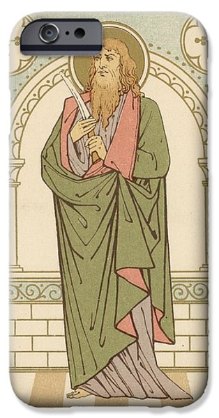 Robe Drawings iPhone Cases - St Bartholomew iPhone Case by English School