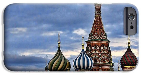 St John The Russian iPhone Cases - St Basils Cathedral - Moscow Russia iPhone Case by Jon Berghoff
