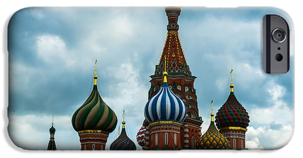 Russian Cross iPhone Cases - St. Basils Cathedral On The Red Square of Moscow City - Featured 3 iPhone Case by Alexander Senin