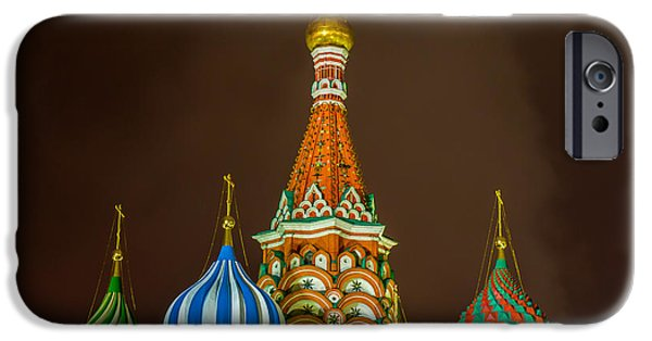 Russian Cross iPhone Cases - St. Basils Cathedral - Square iPhone Case by Alexander Senin