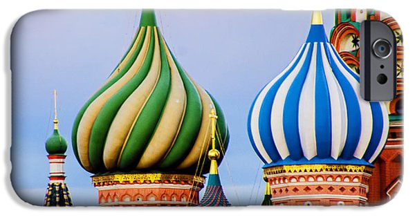 St John The Russian iPhone Cases - St Basils - Red Square - Moscow Russia iPhone Case by Jon Berghoff