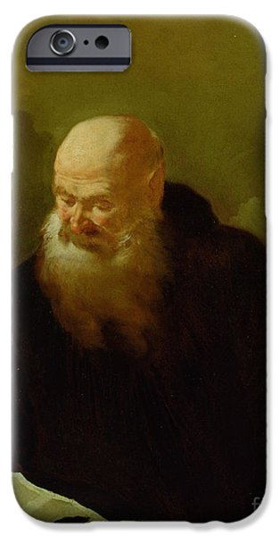 Benedict iPhone Cases - St. Benedict iPhone Case by Giambattista Piazzetta