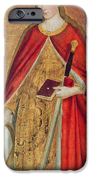 Saint Catherine iPhone Cases - St. Catherine Of Alexandria, 1475 Oil On Panel Detail Of 197121 iPhone Case by Ludovico Brea