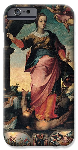 23 iPhone Cases - St Catherine Of Alexandria, 1570 - 1611 iPhone Case by Il Sozzo