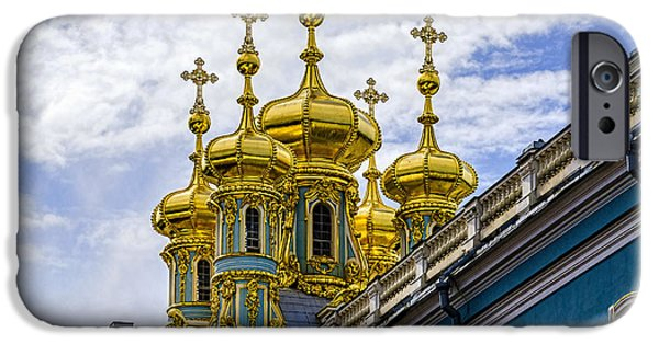 St John The Russian iPhone Cases - St Catherine Palace - St Petersburg Russia iPhone Case by Jon Berghoff