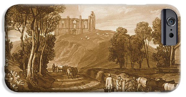 Ruin Paintings iPhone Cases - St Catherines Hill near Guildford iPhone Case by Joseph Mallord William Turner