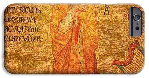Mosaic iPhone Cases - St Cecilia  iPhone Case by Philip Ralley