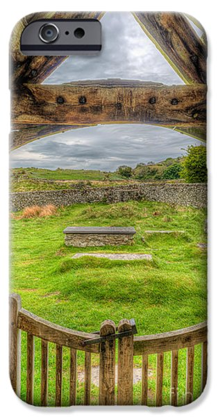 Cemetary iPhone Cases - St Celynnin Graveyard iPhone Case by Adrian Evans