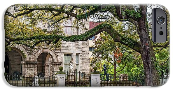Rainy Day iPhone Cases - St. Charles Ave. Mansion 2 iPhone Case by Steve Harrington