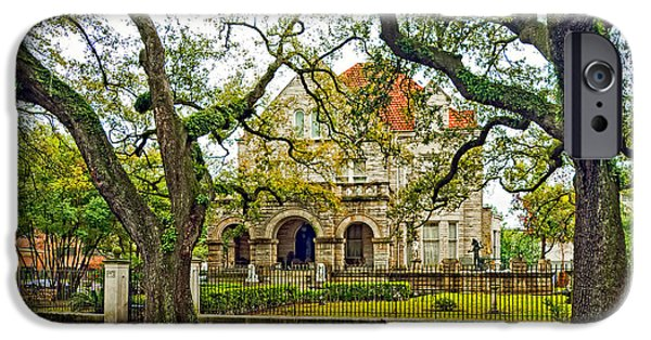 Rainy Day iPhone Cases - St. Charles Ave. Mansion iPhone Case by Steve Harrington