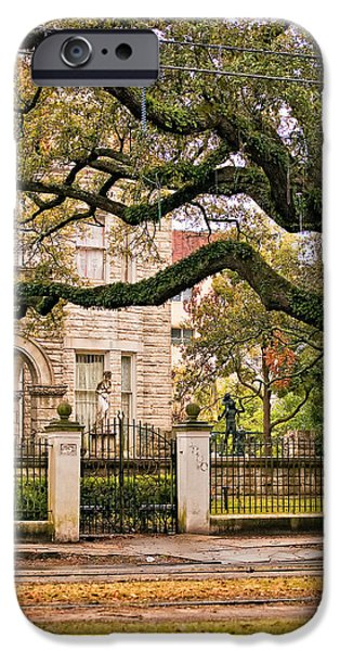 Rainy Day iPhone Cases - St. Charles Ave. iPhone Case by Steve Harrington