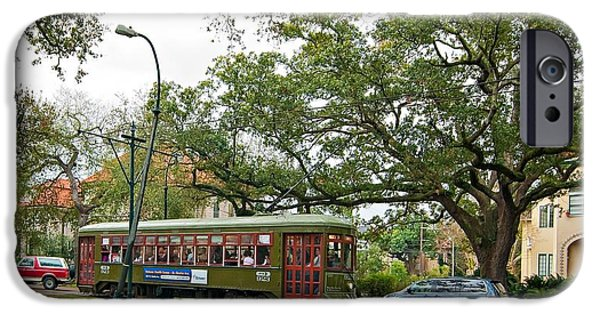 Rainy Day iPhone Cases - St Charles Streetcar iPhone Case by Steve Harrington