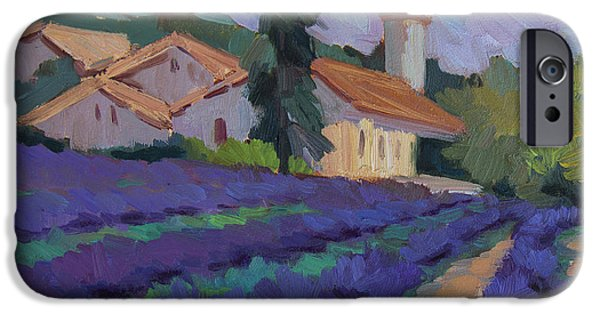 Provence Village iPhone Cases - St. Columne Lavender Field iPhone Case by Diane McClary