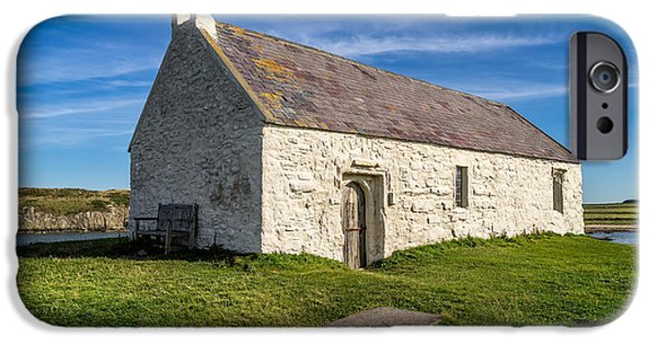 Cemetary iPhone Cases - St Cwyfan Church iPhone Case by Adrian Evans