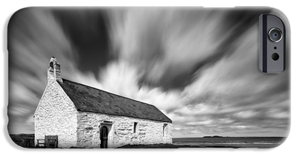 Drama iPhone Cases - St Cwyfans Church iPhone Case by Dave Bowman