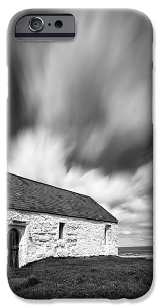 St Cwyfan's Church iPhone Case by Dave Bowman
