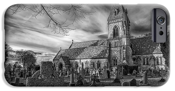 Tombstones iPhone Cases - St Davids Pantasaph iPhone Case by Adrian Evans