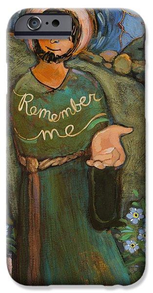 Forgiveness Paintings iPhone Cases - St. Dismas iPhone Case by Jen Norton