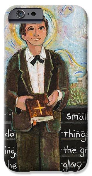19th Century iPhone Cases - St Dominic Savio iPhone Case by Jen Norton