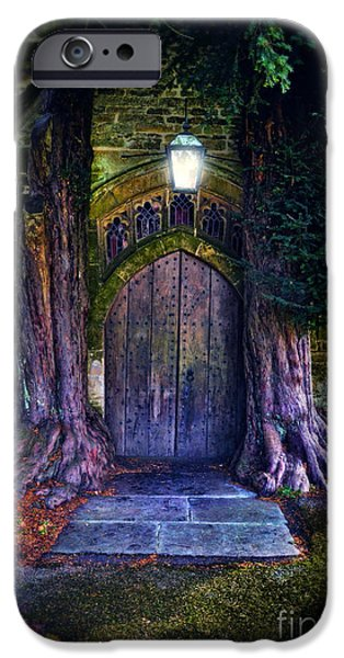 Jrr iPhone Cases - St Edwards at Stow on the Wold iPhone Case by Jill Battaglia