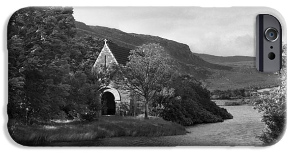 Gougane Barra Church iPhone Cases - St Finbarrs Monastery Cork 1954 iPhone Case by Irish Photo Archive