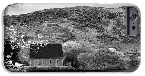 Gougane Barra Church Photographs iPhone Cases - St Finbarrs Oratory - Gougane Barra  iPhone Case by Lyle McNamara