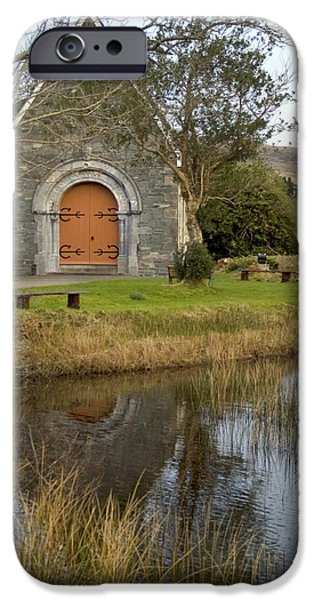 Gougane Barra Church iPhone Cases - St. Finbarrs Oratory iPhone Case by Thomas Glover