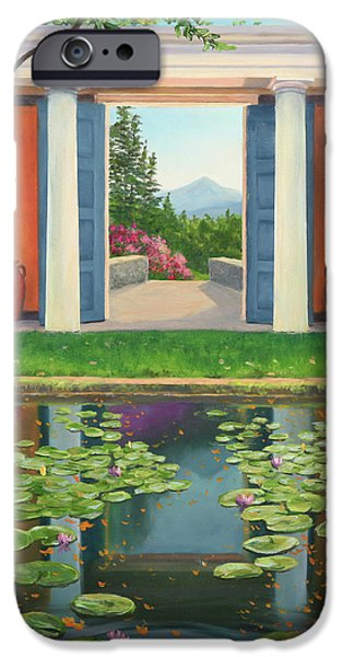 Historic Site Paintings iPhone Cases - St Gaudens Water Lily Pond iPhone Case by Elaine Farmer