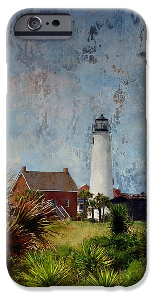 Chip iPhone Cases - St. George Island Historic Lighthouse iPhone Case by Carla Parris