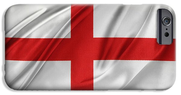 Wavy iPhone Cases - St Georges cross iPhone Case by Les Cunliffe