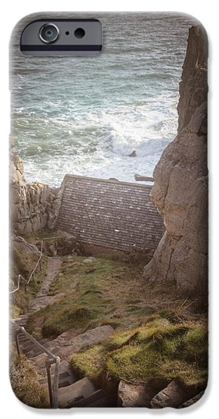 Chapels iPhone Cases - St Govans Chapel iPhone Case by Chris Fletcher