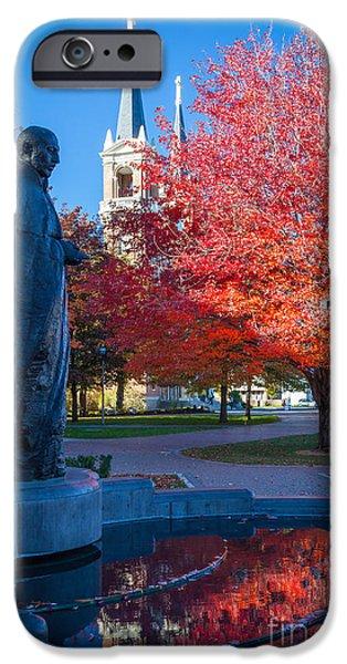 Spokane iPhone Cases - St Ignatius at Gonzaga iPhone Case by Inge Johnsson