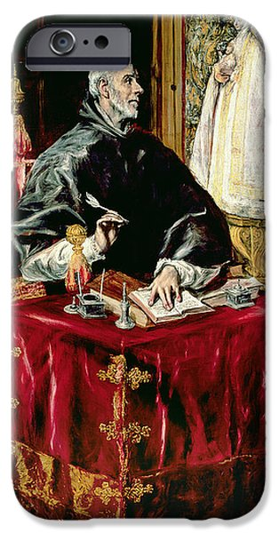 Quill iPhone Cases - St. Ildefonsus, 1597-1603 Oil On Canvas iPhone Case by El Greco