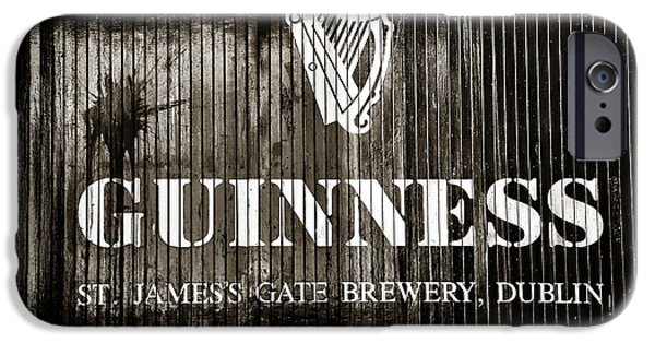 Monotone iPhone Cases - St. James Gate Brewery iPhone Case by John Rizzuto